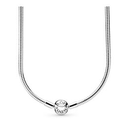 Moments Silver Charm Necklace, Sterling silver - PANDORA - #590742HV