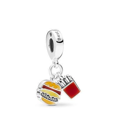 Burger and Fries Pendant Charm