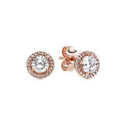Classic Elegance PANDORA Rose Stud Earrings, PANDORA Rose, Cubic Zirconia - PANDORA - #286272CZ