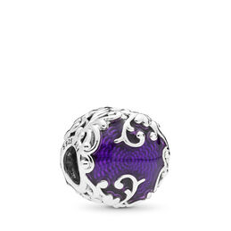 Regal Beauty Charm, Sterling silver, Enamel, Purple - PANDORA - #797607EN13