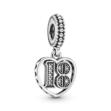 18th Celebration Dangle Charm