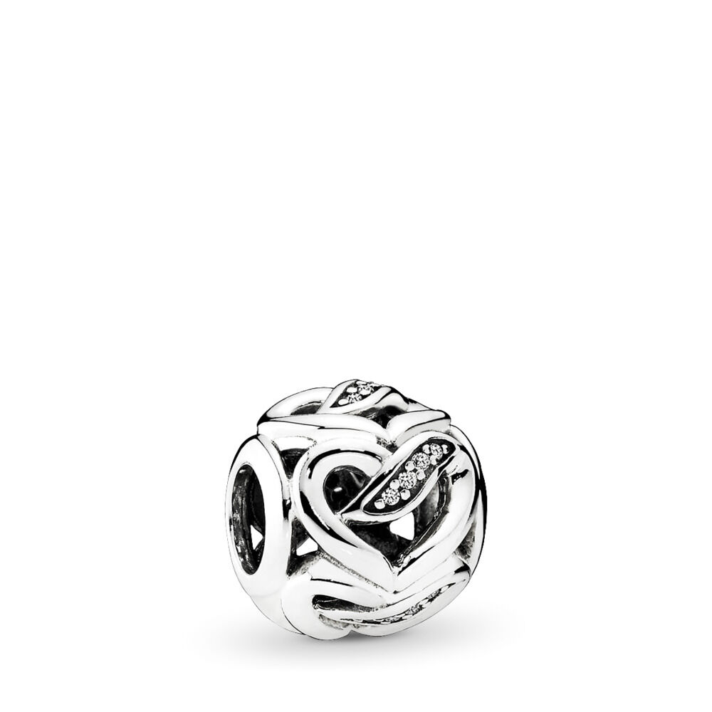 af43cf76e Ribbon of Love Charm, Sterling silver, Cubic Zirconia – Shop PAND