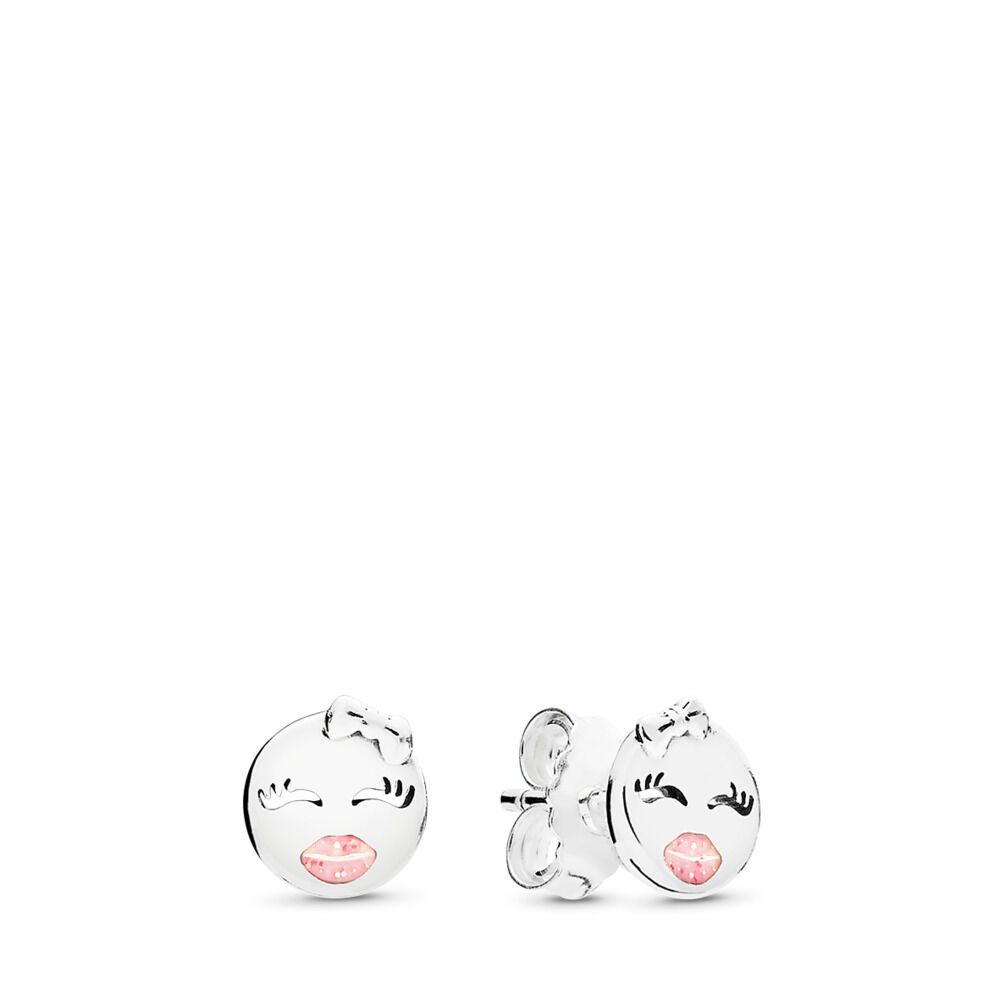 round pattens girl for in happy item stud fashion earrings women earring smiley jewelry emoji heart cartoon from face ear funny