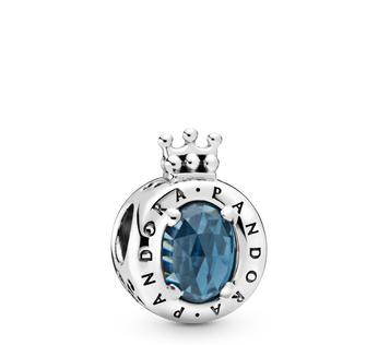 Blue Sparkling Crown O Charm