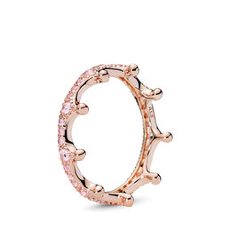 Pink Enchanted Tiara Ring, PANDORA Rose, Pink, Crystal - PANDORA - #187087NPO