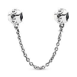 Hearts Safety Chain, Sterling silver - PANDORA - #791088