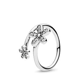 Dazzling Daisies Ring, Sterling silver, Cubic Zirconia - PANDORA - #191038CZ