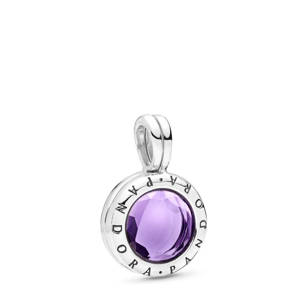 635426267 Click to enlarge PANDORA Faceted Floating Locket Pendant Charm, Sterling  silver, Purple, Synthetic Amethyst - PANDORA February ...