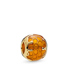 Golden Honey Charm, PANDORA Shine, Enamel, Yellow - PANDORA - #767120EN158