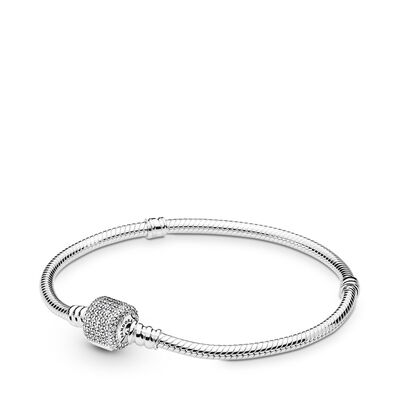 Moments Silver Signature Clasp Bracelet