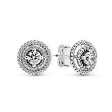 Sparkling Double Halo Stud Earrings