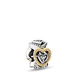 Celebration of Love Spacer, Two Tone, Cubic Zirconia - PANDORA - #791975CZ