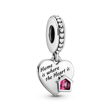 Love My Home Heart Dangle Charm