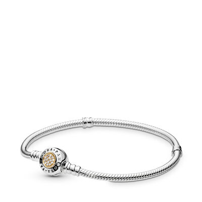Moments Two Tone Bracelet with PANDORA Signature Clasp