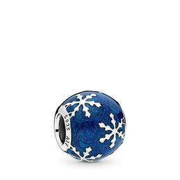 Wintry Delight Charm, Sterling silver, Enamel, Blue - PANDORA - #796357EN63