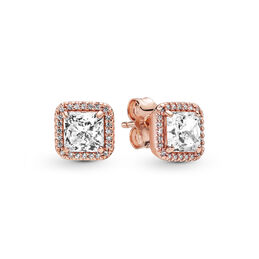 Timeless Elegance Stud Earrings, PANDORA Rose, Cubic Zirconia - PANDORA - #280591CZ