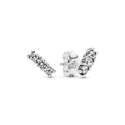Sparkling Elegance Stud Earrings, Sterling silver, Cubic Zirconia - PANDORA - #290725CZ
