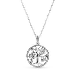 Family Tree Necklace, Sterling silver, Cubic Zirconia - PANDORA - #390384CZ