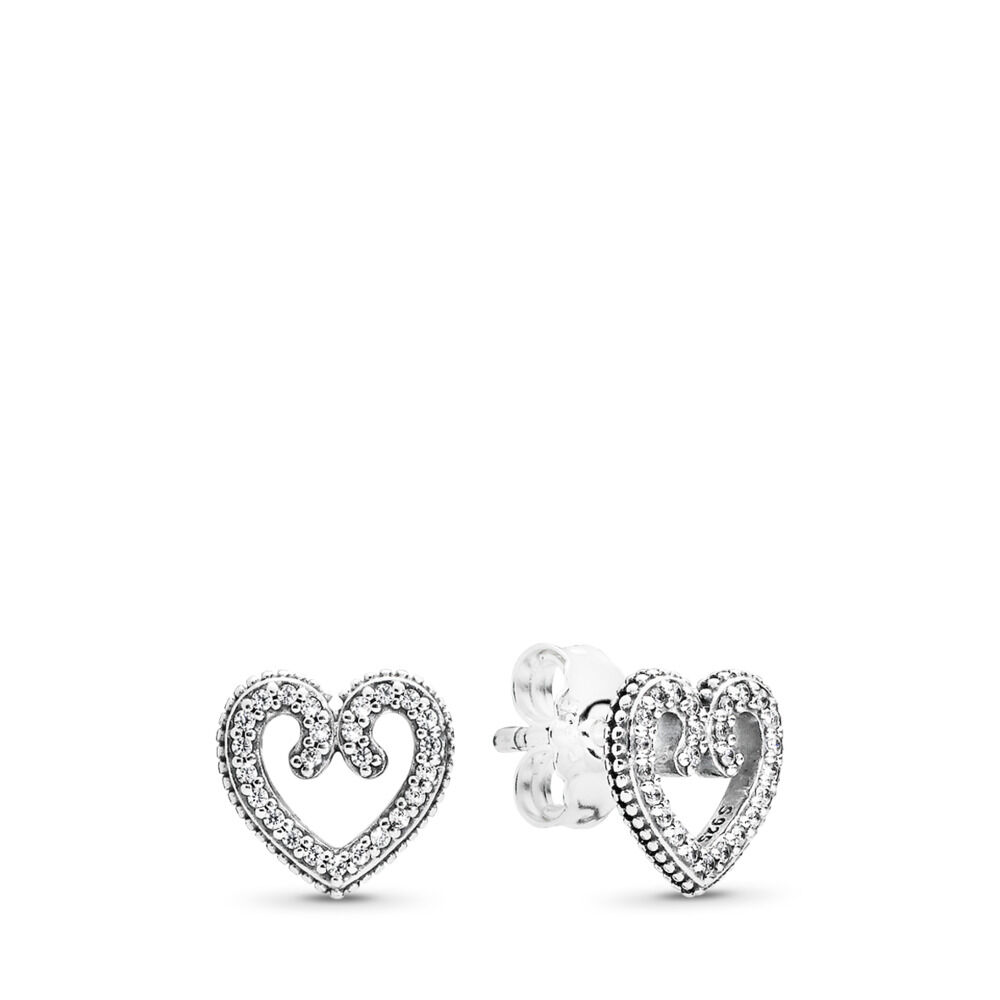 Heart Swirls Stud Earrings