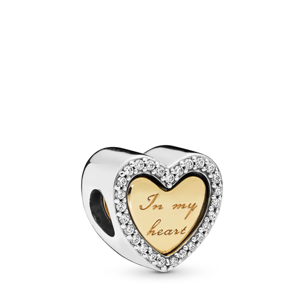 22641bf65 In My Heart Charm, PANDORA Shine and sterling silver, Cubic Zirco