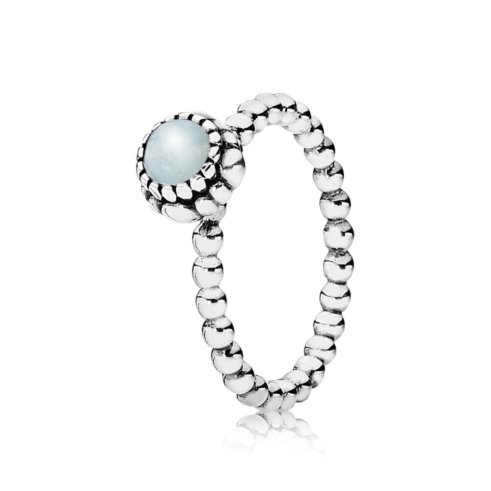 click march enlarge necklace ring birthstone silver aquamarine beaded to pandora