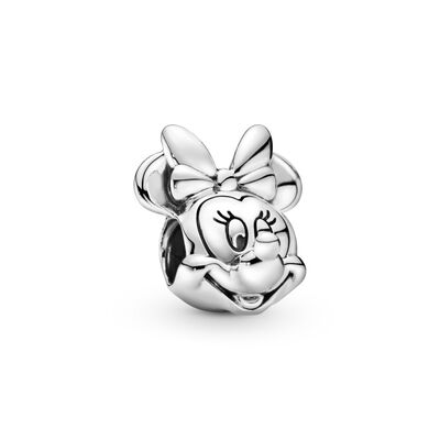 Disney, Minnie Portrait Charm, Sterling silver - PANDORA - #791587