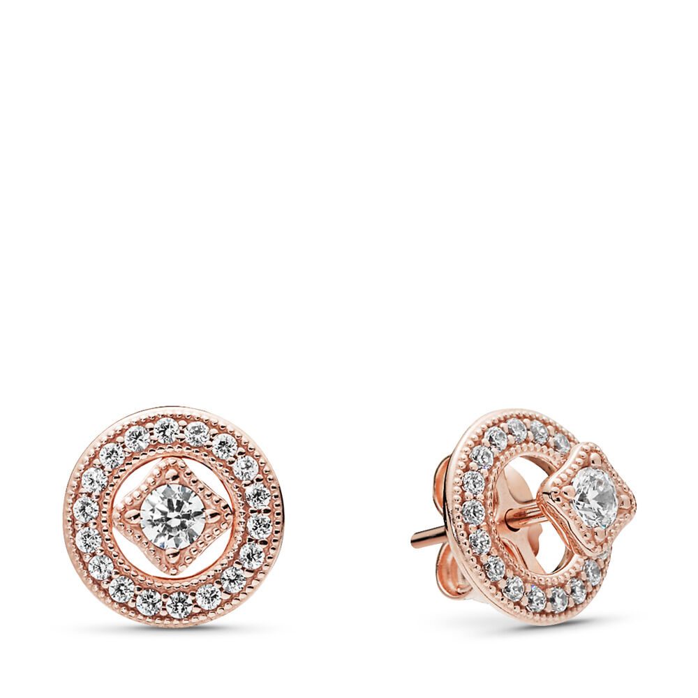 88e0e9564 Vintage Allure Stud Earrings, PANDORA Rose, Cubic Zirconia – Shop
