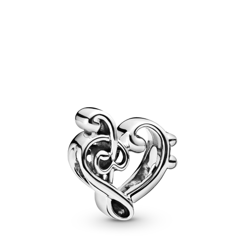 Heart Treble Clef Charm