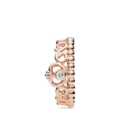 My Princess Tiara Ring, PANDORA Rose, Cubic Zirconia - PANDORA - #180880CZ