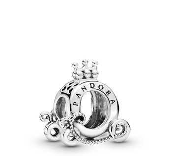 Polished Crown O Carriage Charm