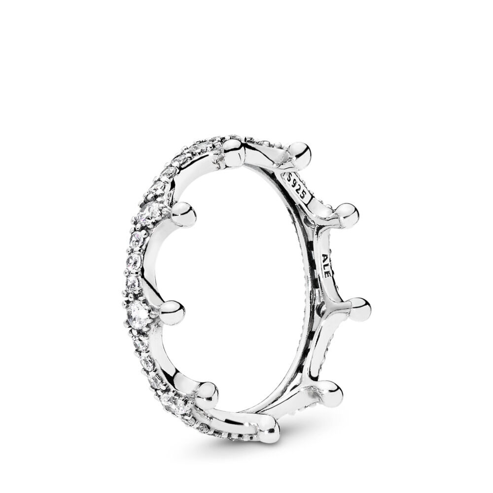 Enchanted Crown Ring Sterling Silver Cubic Zirconia