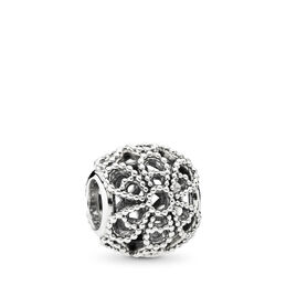 Openwork Roses Charm, Sterling silver - PANDORA - #791282