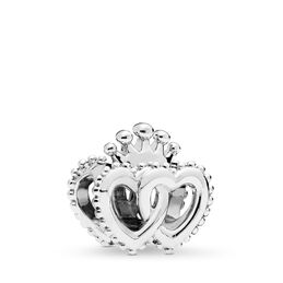 United Regal Hearts, Sterling silver - PANDORA - #797670