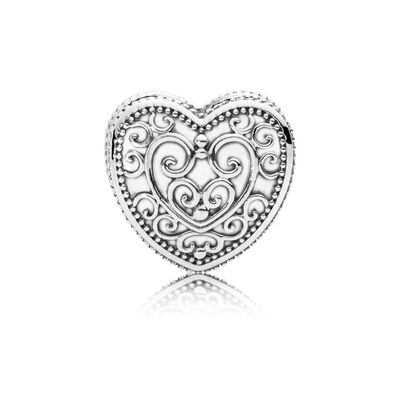 Enchanted Heart Charm, Sterling silver - PANDORA - #797024