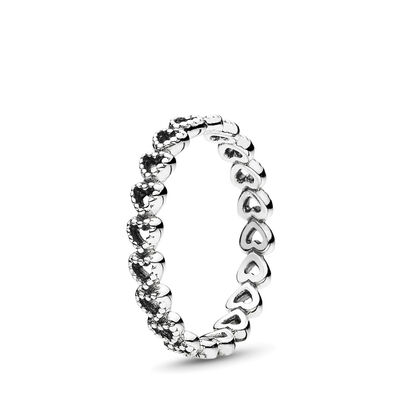 Openwork Linked Love Ring