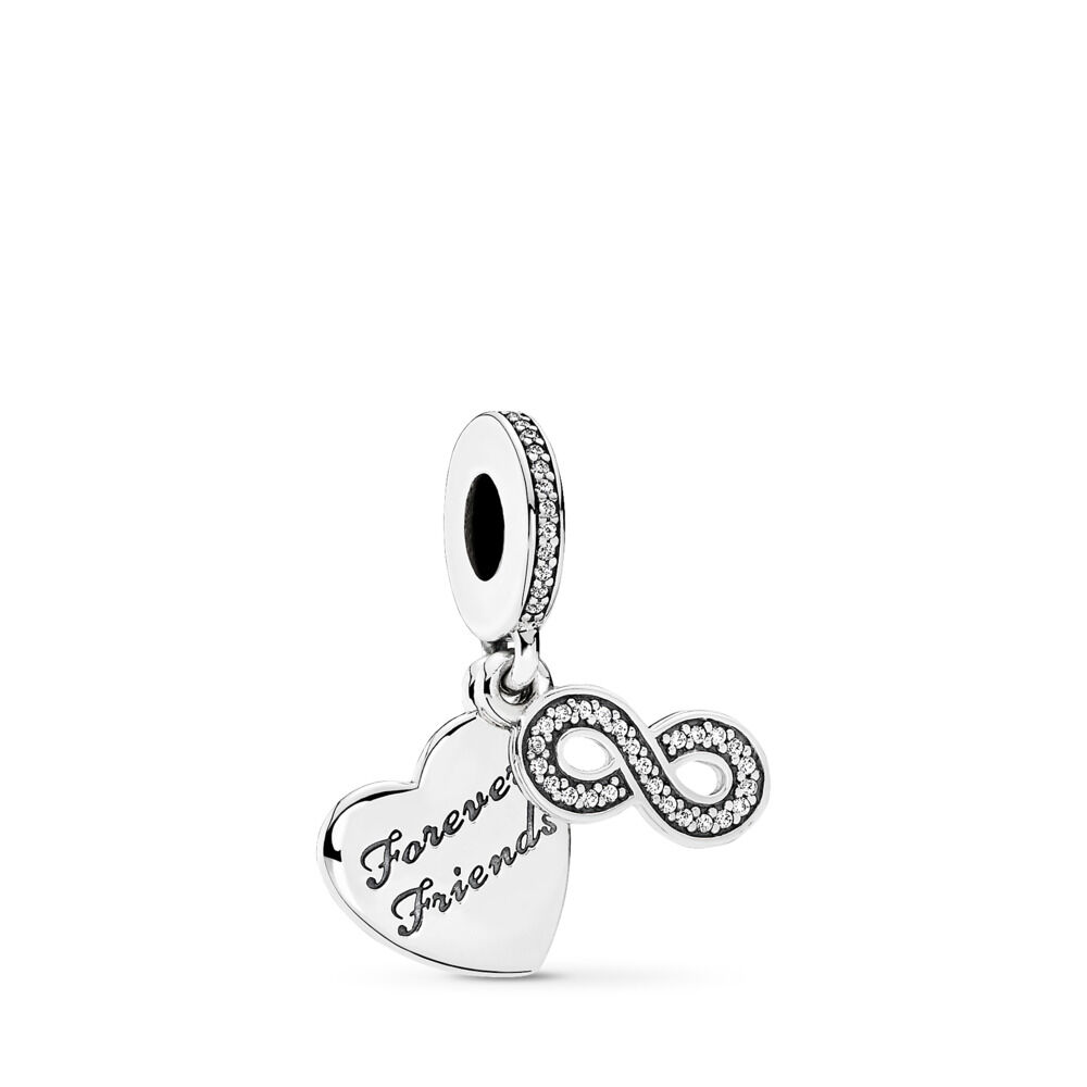 pandora women pendant beads bead diy charms item authentic bangles from necklace penny jewelry fit bracelets sterling infinity in lucky charm silver
