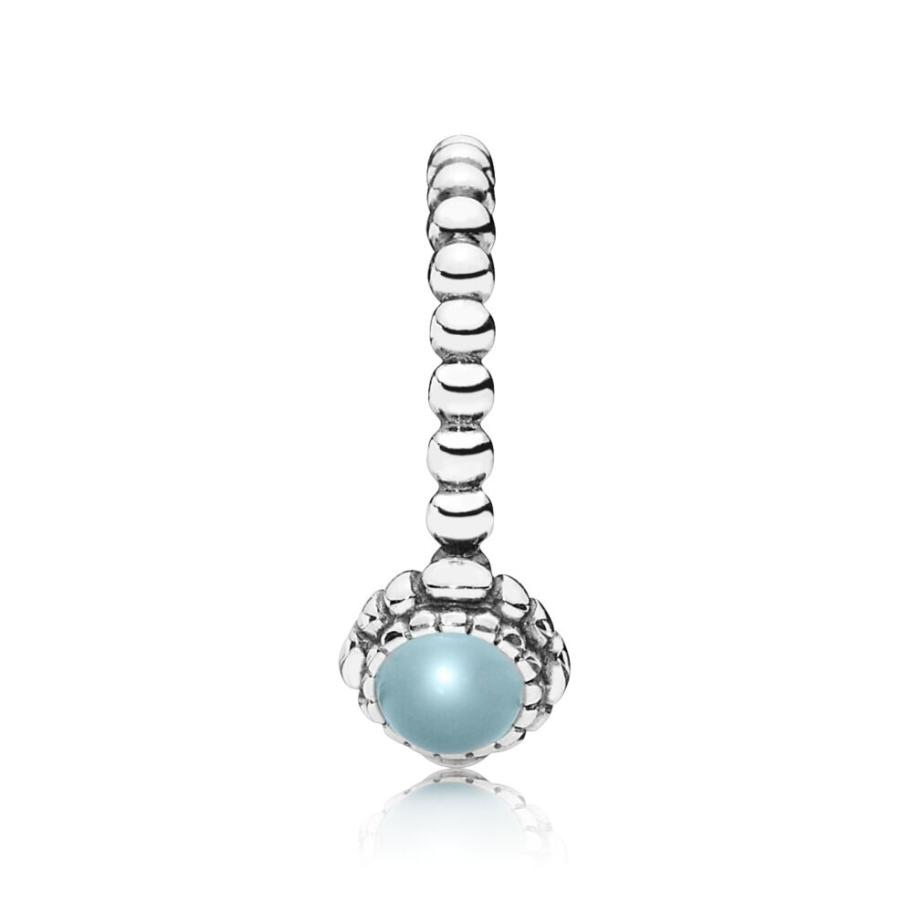 bloom birthday stackable ring rings march pandora p retired aquamarine