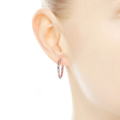 Droplets Hoop Earrings, PANDORA Rose, Cubic Zirconia - PANDORA - #286244CZ