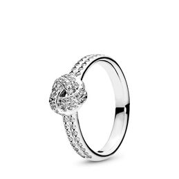 Sparkling Love Knot Ring, Sterling silver, Cubic Zirconia - PANDORA - #190997CZ