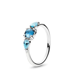 Ice Drops Ring, Sterling silver, Blue, Crystal - PANDORA - #191016NMB