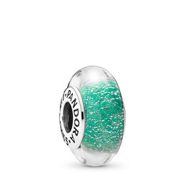 Disney, Ariel's Signature Colour Murano Charm, Sterling silver, Glass, Green - PANDORA - #791641