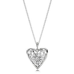Heart of Winter Necklace, Sterling silver, Cubic Zirconia - PANDORA - #396369CZ