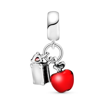 Disney, Snow White's Apple & Heart Pendant Charm