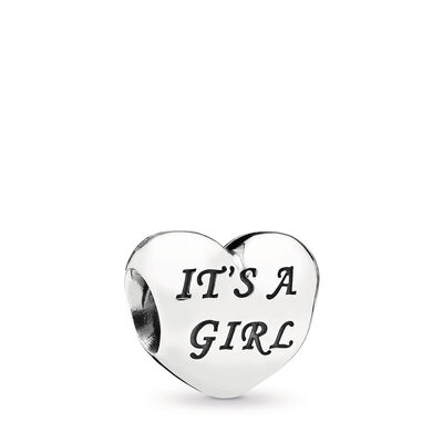 Baby Girl Charm, Sterling silver, Pink, Cubic Zirconia - PANDORA - #791280PCZ