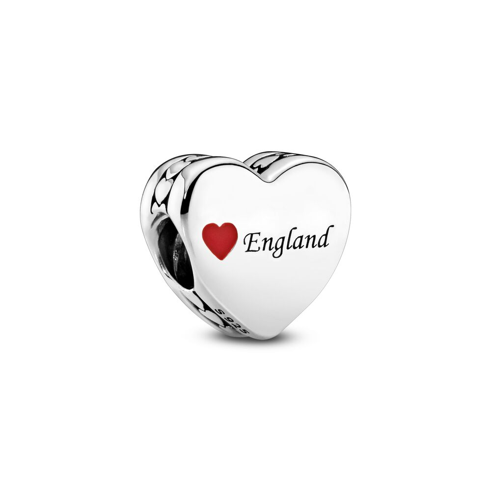 10) England Love Heart Charm