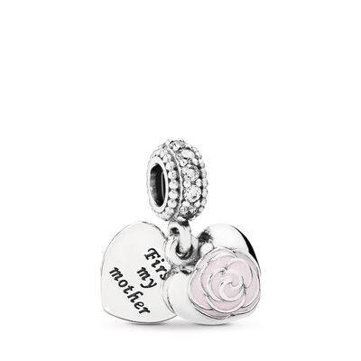 Mother's Rose Pendant Charm