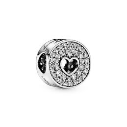 Anniversary Celebration Charm, Sterling silver, Cubic Zirconia - PANDORA - #791977CZ