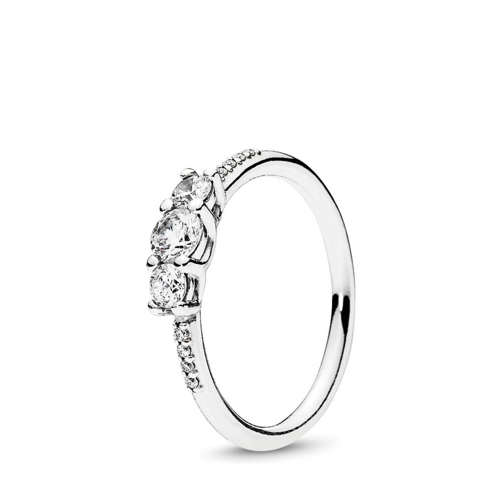 Fairytale Sparkle Ring Sterling Silver Cubic Zirconia