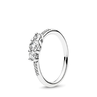 Fairytale Sparkle Ring, Sterling silver, Cubic Zirconia - PANDORA - #196242CZ