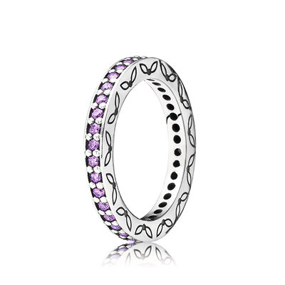 Purple Thin Eternity Ring